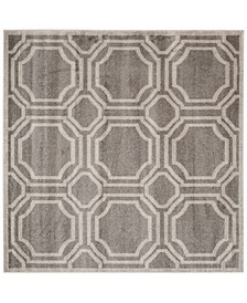 Amherst Indoor/Outdoor AMT411B Light Grey/Ivory 5' x 5' Square Area Rug