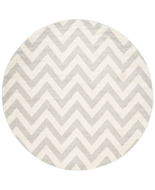Safavieh Amherst Indoor Outdoor Amt419 7 X 7 Round Area Rug