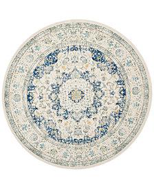 "Safavieh Evoke EVK220C Ivory/Blue 5'1"" Round Area Rug"