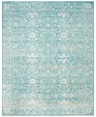 CLOSEOUT! Safavieh Evoke EVK270D Light Blue/Ivory Area Rugs