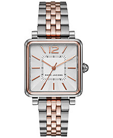Marc Jacobs Women's Vic Two-Tone Stainless Steel Bracelet Watch 30mm