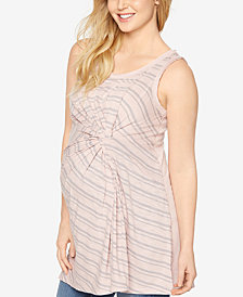 A Pea In The Pod Maternity Striped Sleeveless Top