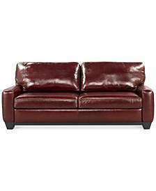 "Hampton 83"" Leather Sofa"