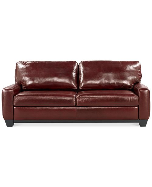 Admirable Hampton 83 Leather Sofa Unemploymentrelief Wooden Chair Designs For Living Room Unemploymentrelieforg