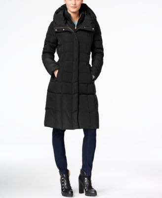 Layered Down Puffer Coat