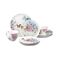 Deals on Lenox Butterfly Meadow Hydrangea 12-Pc Dinnerware Set