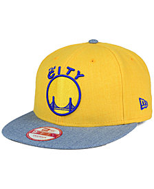 New Era Golden State Warriors Heather Action 9FIFTY Snapback Cap
