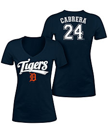 5th & Ocean Women's Miguel Cabrera Detroit Tigers Foil Player T-Shirt