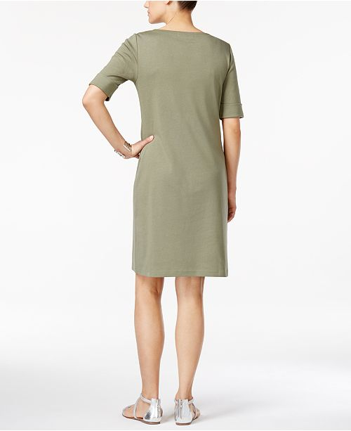 291a66760bbd Karen Scott Petite T-Shirt Dress, Created for Macy's & Reviews ...