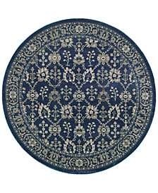 Oriental Weavers Richmond Fortune Navy/Grey 7'10'' Round Rug