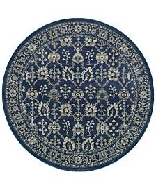 Oriental Weavers Richmond Fortune Navy Grey 7 10 Round Rug