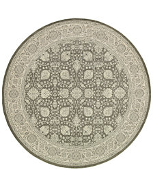 "Oriental Weavers Richmond Tabriz Brown/Ivory 7'10"" Round Rug"