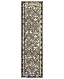 "Oriental Weavers Richmond Royal Garden Grey/Navy 2'3"" x 7'6"" Runner Rug"