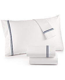 Hotel Collection 525 Thread Count Cotton Pair of Embroidered Standard Pillowcases, Created for Macy's