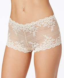 Embrace Lace Embroidered Boyshort Underwear 67491