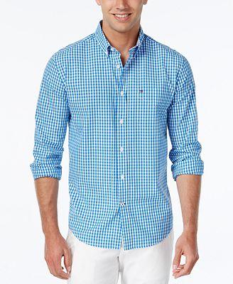 Tommy Hilfiger Men's Long-Sleeve Twain Check Shirt