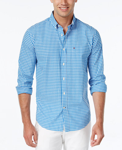 Tommy Hilfiger Men's Long-Sleeve Twain Check Shirt