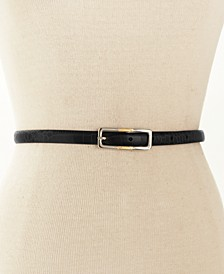 Skinny Reversible Leather Belt