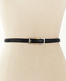 Lauren Ralph Lauren Skinny Reversible Leather Belt
