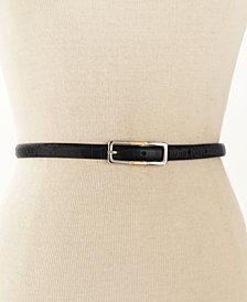 Lauren Ralph Lauren Skinny Reversible Leather Belt