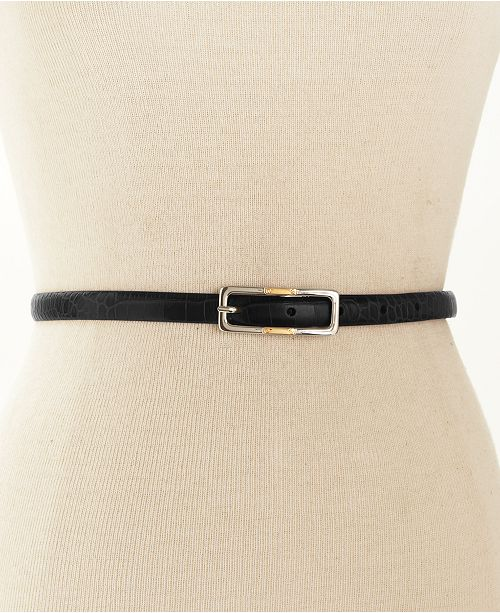 9938433b31 Skinny Reversible Leather Belt
