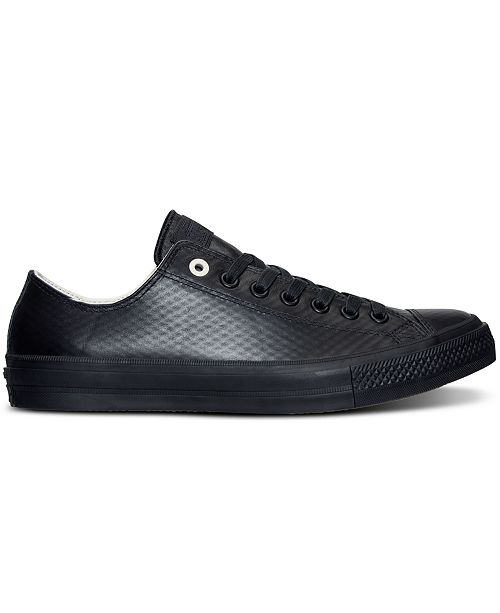 65dc870557efc0 ... Converse Men s Chuck Taylor All Star II Ox Mesh Backed Leather Casual  Sneakers from Finish ...