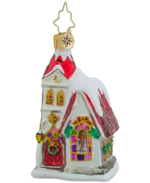 Christopher Radko Ruby Chapel Little Gem Ornament
