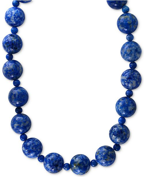 EFFY Collection EFFY® Lapis Lazuli (4 & 12mm) Beaded Collar Necklace in 14k Gold