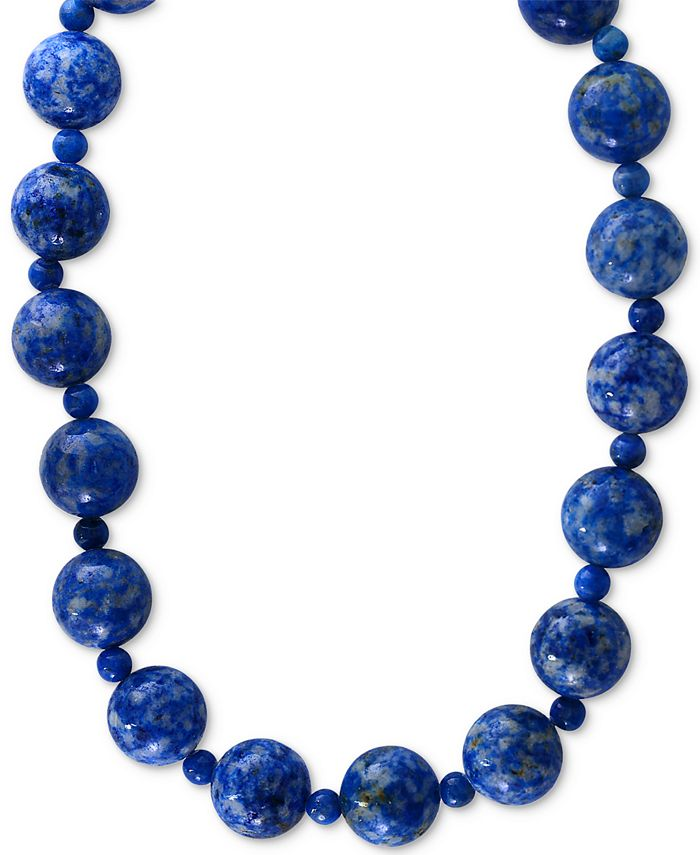 EFFY Collection - Lapis (4 & 12mm) Beaded Collar Necklace in 14k Gold