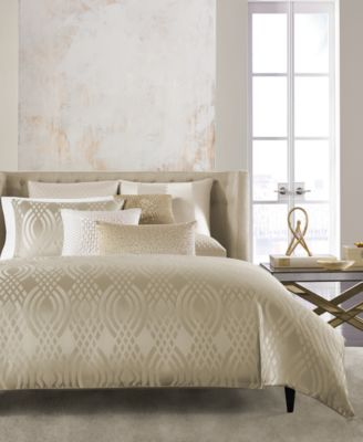 Dimensions Champagne Full/Queen Duvet Cover, Created for Macy's