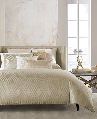 Hotel Collection Dimensions Champagne Duvet Covers Only