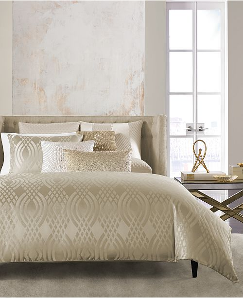 Hotel Collection Dimensions Champagne Comforters, Created for Macy's