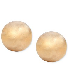 Lauren Ralph Lauren Silver-Tone Ball Stud Earrings