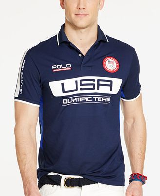 Polo Ralph Lauren Men's Team USA Custom-Fit Performance Polo Shirt