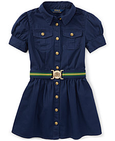 Ralph Lauren Chino Shirtdress, Big Girls