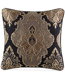 "J Queen New York Bradshaw Black 20"" x 20"" Decorative Pillow"