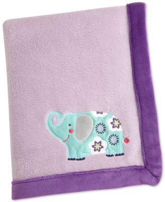 Zoo Collection Appliqué Fleece Blanket