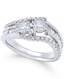 Diamond Twist Anniversary Ring (1 ct. t.w.) in 14k White Gold
