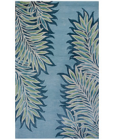 "Kas Bob Mackie Home 1002 Ice Blue Folia 3'3"" x 5'3"" Area Rug"