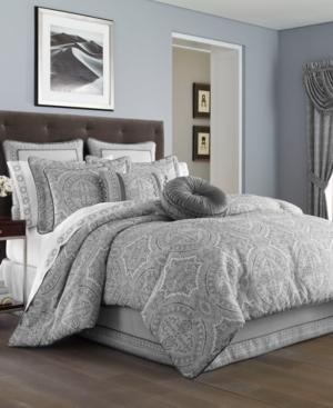 J Queen New York Colette Silver King Comforter Set Bedding