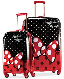 Disney Minnie Mouse Red Bow Hardside Spinner Luggage by American Tourister