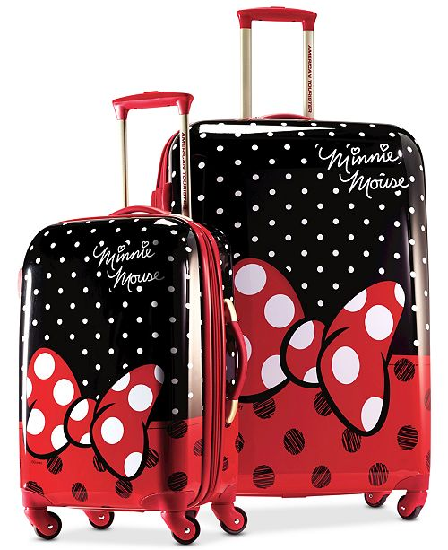 American Tourister Disney Minnie Mouse Red Bow Hardside Spinner Luggage by American Tourister