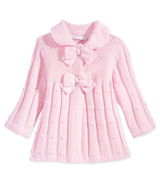 First Impressions Baby Girls' Bow-Detail Sweater Jacket ...