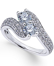 Two Souls, One Love® Diamond Anniversary Ring (1-1/2 ct. t.w.) in 14k White Gold