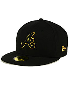 New Era Atlanta Braves Black On Metallic Gold 59FIFTY Fitted Cap
