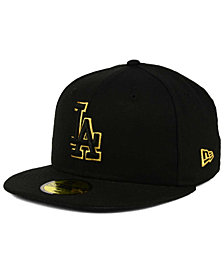 New Era Los Angeles Dodgers Black On Metallic Gold 59FIFTY Fitted Cap
