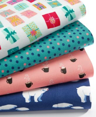 CLOSEOUT! Whim by Martha Stewart Collection Holiday Cotton Flannel ...