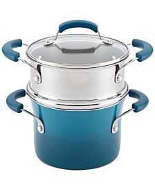 Rachael Ray Nonstick 3-Qt. Saucepot and Steamer Set