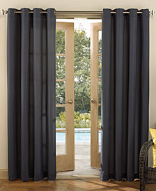 "Sun Zero Rutherford Solid Woven Indoor/Outdoor UV Protectant  52"" x 95"" Curtain Panel"
