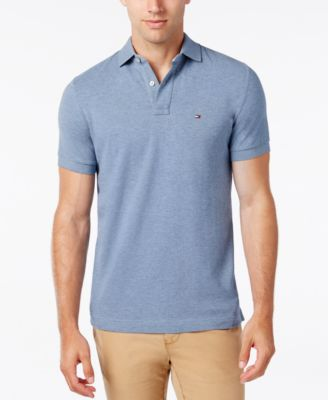 burberry polo outlet m28w  Tommy Hilfiger Men's Custom-Fit Ivy Polo
